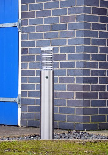Stelled - 316 Stainless Steel E27 220 - 240v IP65 Surface Bollard With Photocell - Choice of 2 Heights & LED Lamp