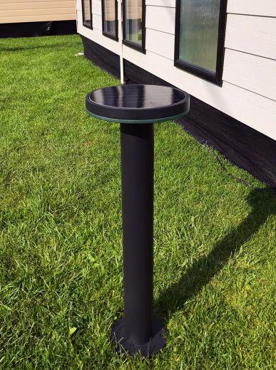 Pro Solar HALOPOST  800mm Black - Solar Post Light in warm white 3000k or cool white 6000k LEDs