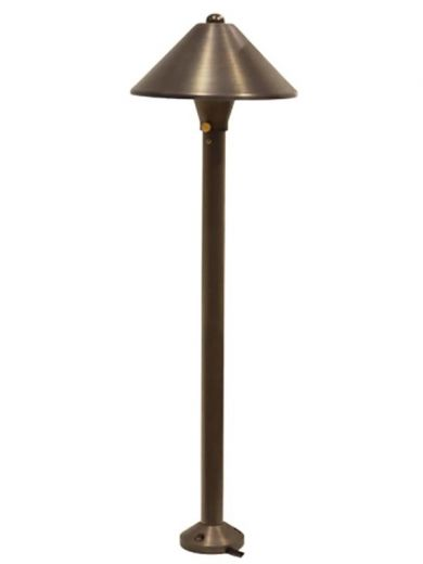Charleston Coolie - Brass IP54 12v G4 Max Wattage 20w - Spike Or Surface Mounted Spreadlight - Plug & Play