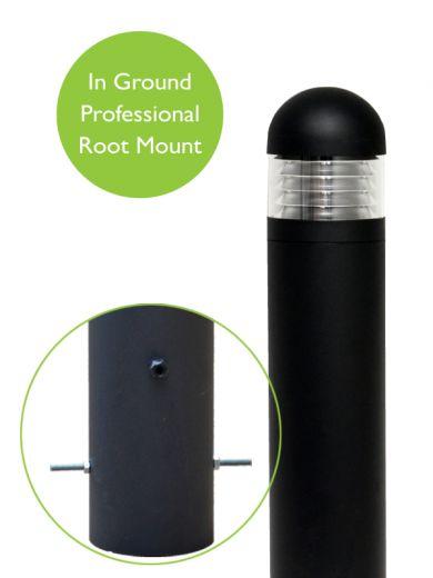 Lighthouse - Aluminium Green Or Black IP65 E27 240v Root Mounted Bollard - Choice Of 3 Heights & 3 Head Options