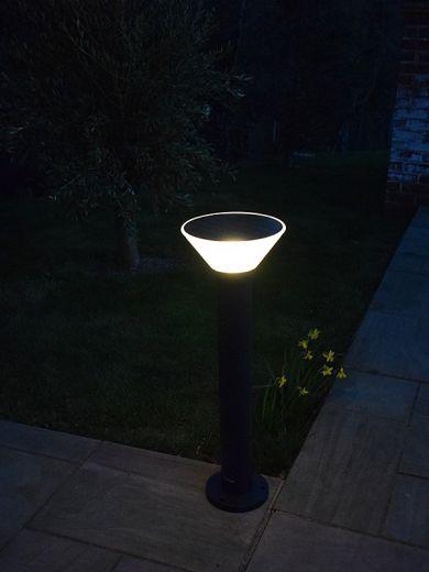 Pro Solar OLYMPIA – 800mm Black - Solar Path Light with External Mounting Base  3000k or 6000k LED