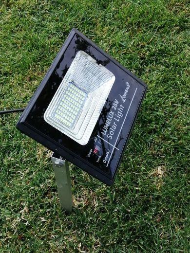 Pro Solar SOLLUX – Black Solar Uplight with Ground Spikes (25W, 60W, 120W)