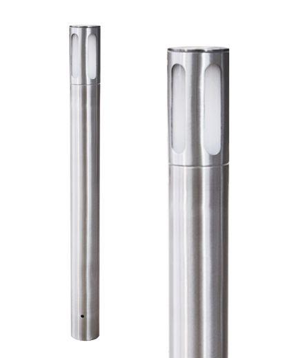 Litetower – Anodised Aluminium E27 220- 240v IP65 Root Mounted Bollard - Choice of 800mm or 1.0m Height
