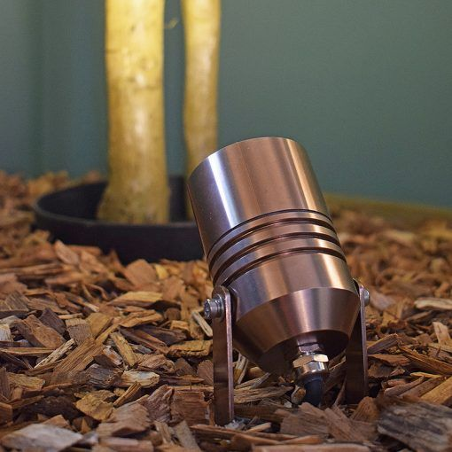AlvaLED - 240v - Aluminium Titanium Silver Finish IP65 Max 20w GU10 - Spike Spotlight