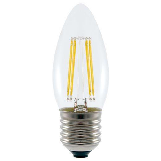 4.5W LED Filament Candle Bulb, ES, 3000k Warm White - 240v