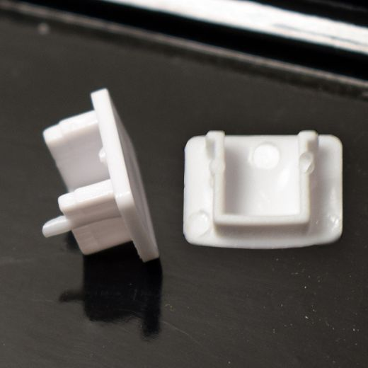 END CAPS FOR EXTRUDED ALUMINIUM PROFILE – PACK OF 2