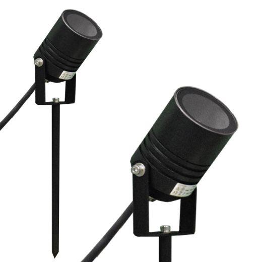 AlvaLED - Black 240v Powder Coated Aluminium IP65 GU10 Max 20w Spike Spotlight