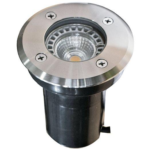 Decimax - 240v -304 Stainless Steel GU10 IP67 Fixed Recessed Spotlight 100mm or 120mm Bezel