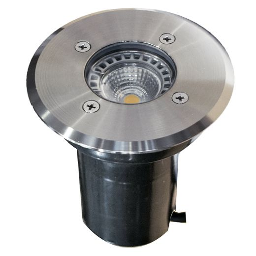 Decimax - 12v - Open Cable 304 Stainless Steel MR16 IP67 Fixed Recessed Spot 120mm Bezel Clear/Frosted Lens