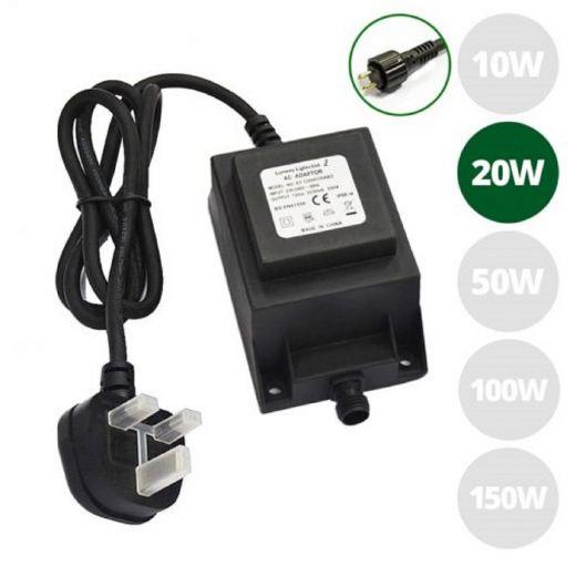 12v Transformer 20w - Plug & Play (240v - 12v Converter)
