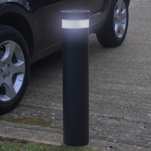 Pro Solar Litecharga  800mm Black - Solar Bollard Light In cool white or warm white LED
