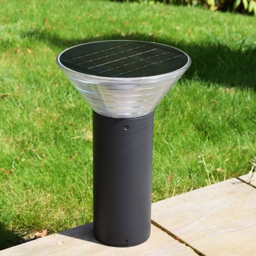 Pro Solar OLYMPIA – 380mm Solar Pedestal Light in 3000k warm white or 6000k cool white