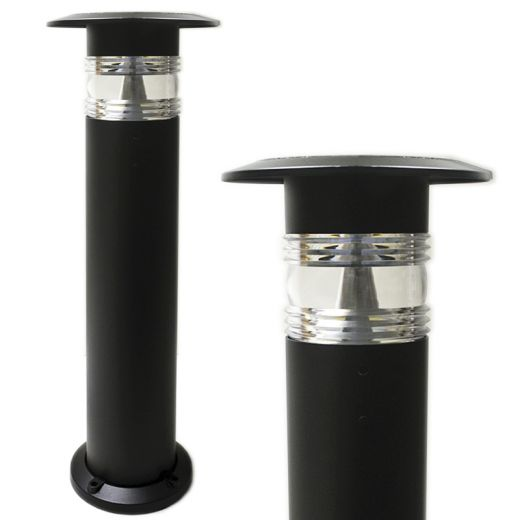 Pro Solar Panama – 800mm Black Solar Powered Bollard Light- Warm white or cool white LED