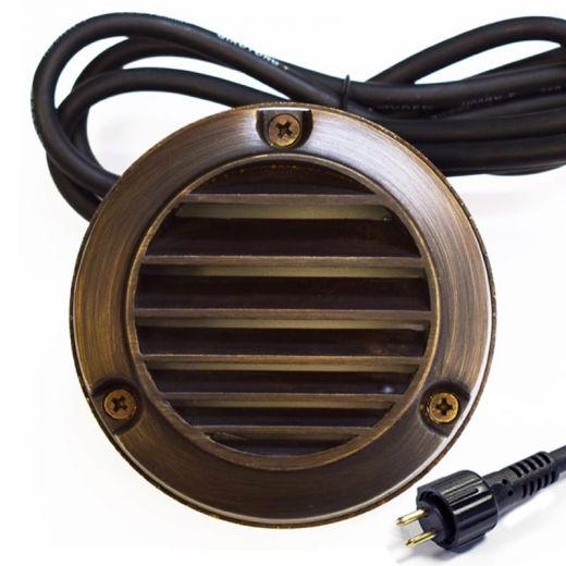 Slatlite 12V Step Light - G4 IP54 Surface Mount - Brass (Bronze Finish) - VERSA Plug & Play - Choice Of 2 Finishes