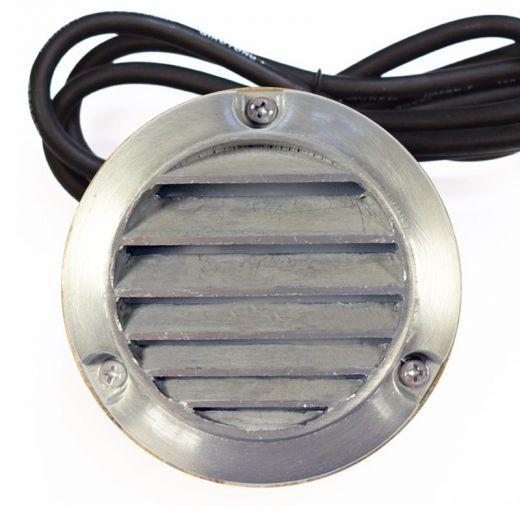 Slatlite 240V Garden Step Light – IP54 Solid Brass with Aged Silver Finish