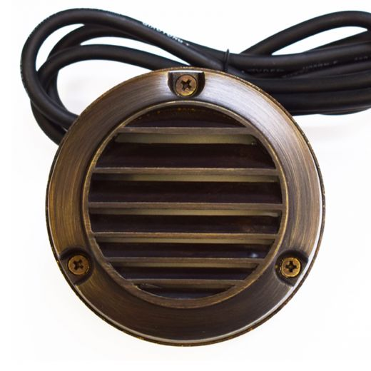 Slatlite 240V Garden Step Light – Solid Brass (Rustic Bronze) - IP54 - G9