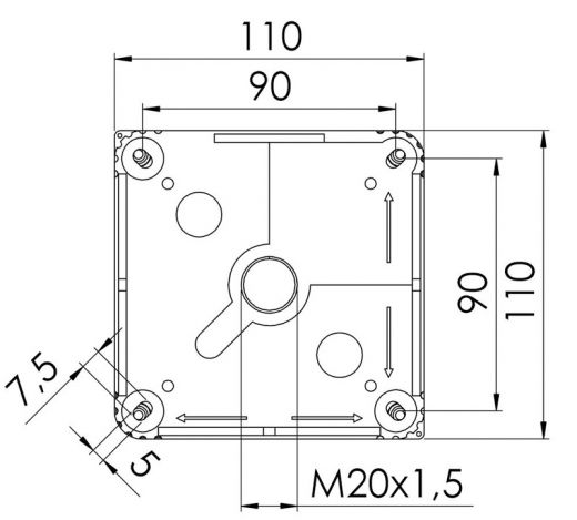 10 Way Junction Box, Black (Wiska)