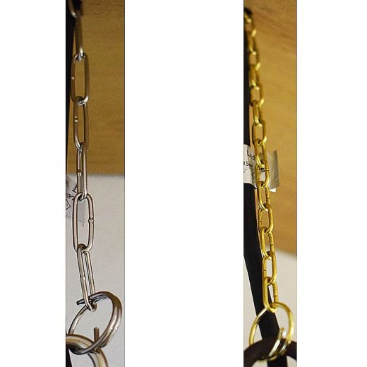30cm / 50cm Hanging Chain & 2 x Split Rings for Starlight and Pergolux Hanging Lights – Stainless Steel or Brass