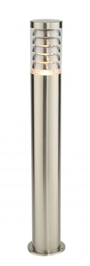 Tango Post - 304 Stainless Steel IP44 240v E27 9.2w Max LED 800mm Height - Surface Mounted Bollard- 2 Height Options