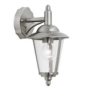 Klien Downlight - 240v - Polished Stainless Steel IP44 E27 Max 60w Wall Light - Lantern Light