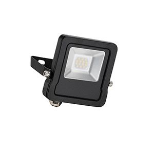 Surge - 240v - Black - 10w IP65 Cool White 4000k 800 lumens - Floodlight