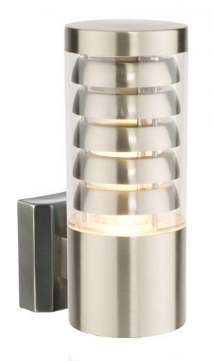 Tango - 240v - 304 Brushed Stainless Steel IP44 E27 Max 9.2w Wall Light - Lantern Light