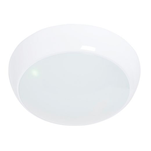 Vigor LED Microwave - 240v White Polycarbonate 16w 4200k 1200 Lumens IP65 Emergency Security Light