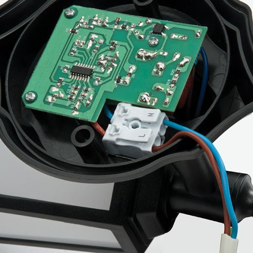 Evesham PIR Lantern 240v - Matt Black Polycarbonate 7w 4200k 400 Lumens IP44 Security Wall Light With PIR Sensor