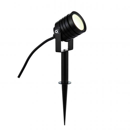 Luminatra - Black 240v IP65 4w 4000k 300 Lumens 45 Degree Beam Angle - Spike Light Choice 2 colours