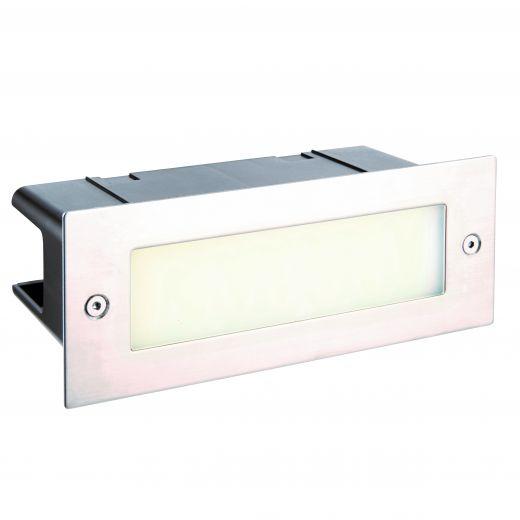 Seina plain IP44 3.5W cool white 316 stainless steel - 220 - 240v