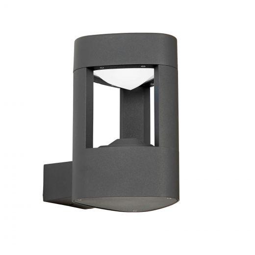 Tribeca - 240v -Grey Powder Coated Aluminium IP54 8W 6000k - 300 Lumens - Wall Light