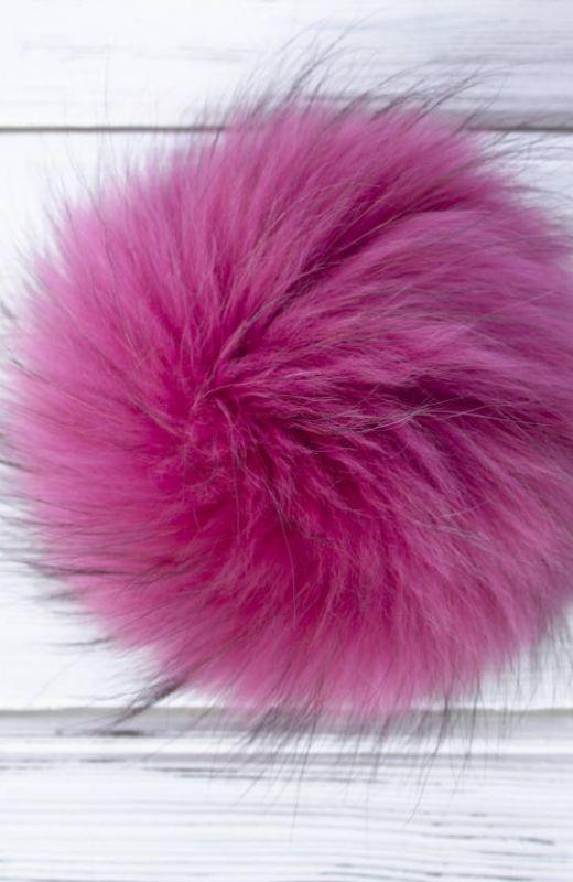Extra Pompom? Luxury pink 15cm fur pompom